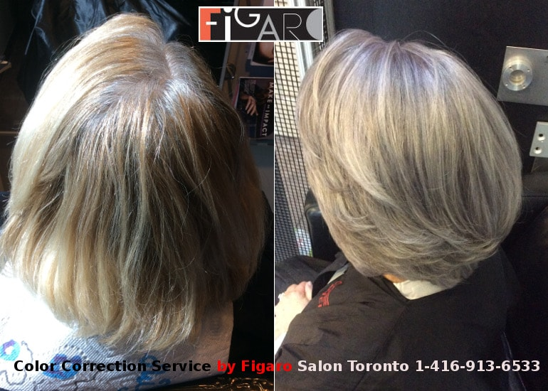 Hair Color Correction Gray Hairs. Снимки До и После