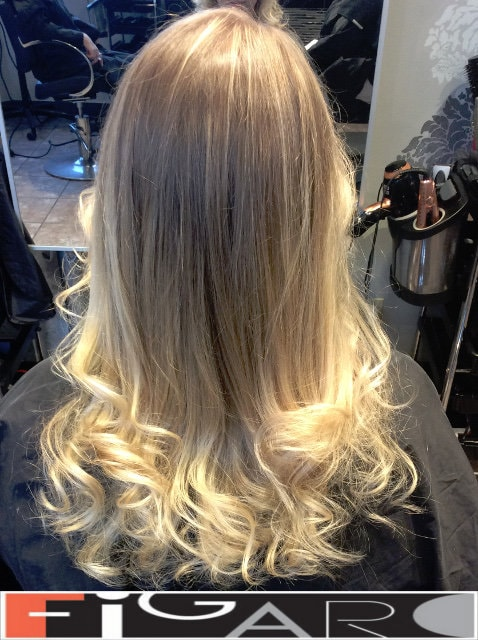 This blond hair coloring was done by Famous colorist Elena Bogdanets
