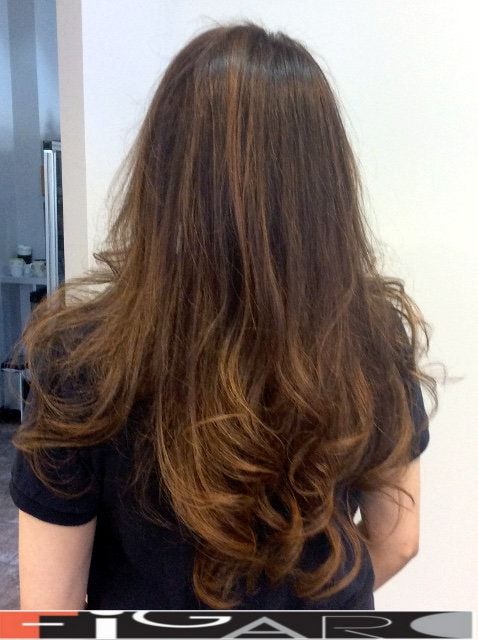 Long length hair cut done by Elena Bogdanets Toronto