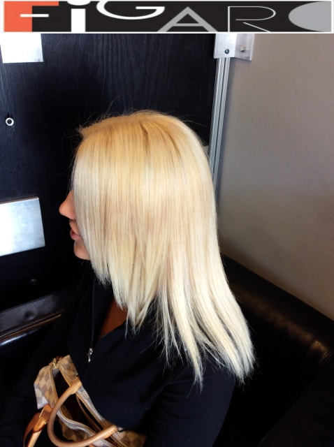 Front layers medium length haircut 2016 done by Elena Bogdanets Toronto