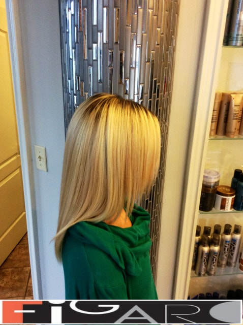 Front layers medium length haircut 2016 by Elena Bogdanets Toronto