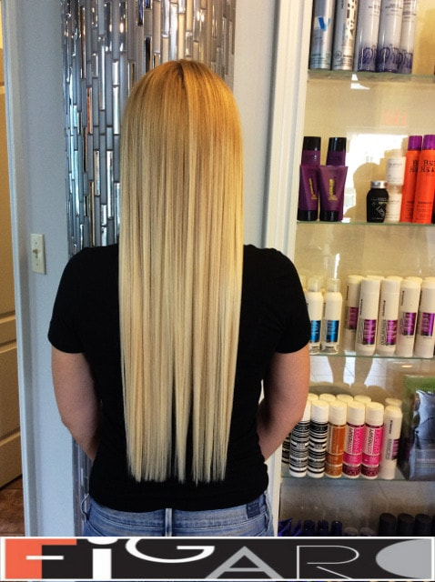 blunt cut long hair  ideas done by Elena Bogdanets Toronto