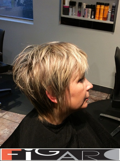 Short layered haircut for short hair by Elena Bogdanets Celebrity hair stylist