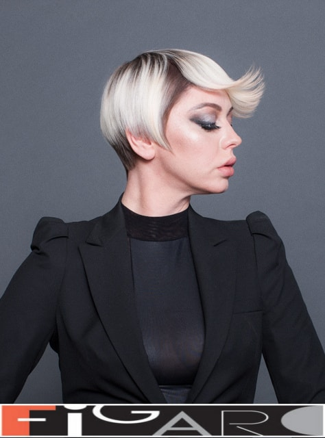 short bob hairstyles with bangs by Elena Bogdanets Celebrity hair stylist