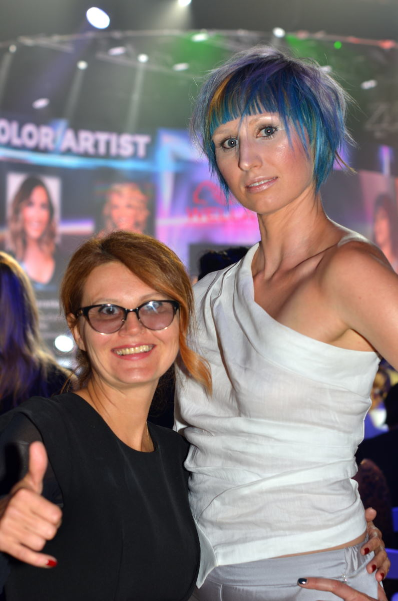 Trendvision by Wella Color Artist of the year 2019. Elena at live model competition in LA